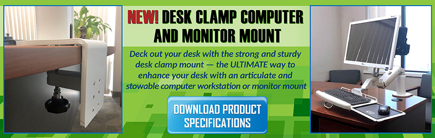Desk Clamp Computer and Monitor Mount