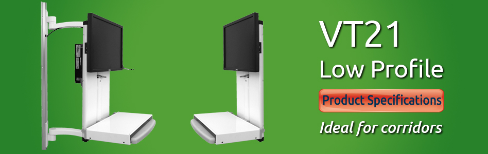 ICW VT21 Low Profile Sit Stand Workstation